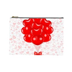 Abstract Background Balloon Cosmetic Bag (Large)