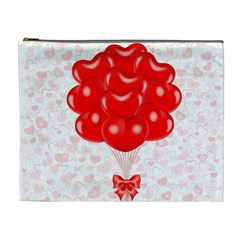 Abstract Background Balloon Cosmetic Bag (XL)