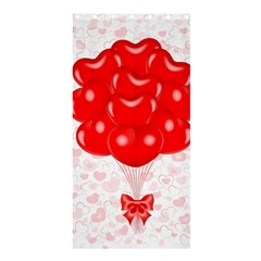 Abstract Background Balloon Shower Curtain 36  x 72  (Stall)