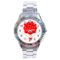 Abstract Background Balloon Stainless Steel Analogue Watch