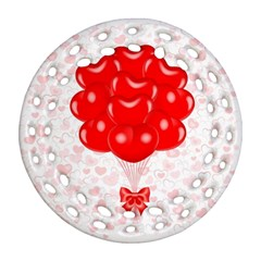 Abstract Background Balloon Round Filigree Ornament (2Side)
