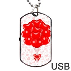 Abstract Background Balloon Dog Tag USB Flash (One Side)