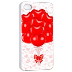Abstract Background Balloon Apple iPhone 4/4s Seamless Case (White)