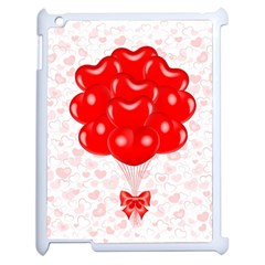 Abstract Background Balloon Apple iPad 2 Case (White)