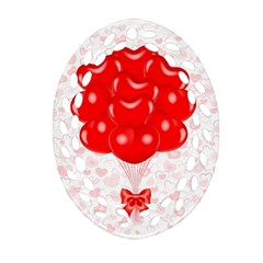 Abstract Background Balloon Ornament (Oval Filigree)