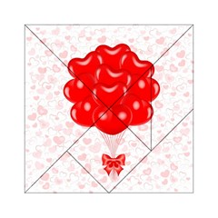 Abstract Background Balloon Acrylic Tangram Puzzle (6  x 6 )
