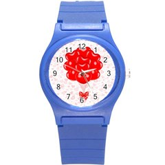 Abstract Background Balloon Round Plastic Sport Watch (S)