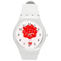 Abstract Background Balloon Round Plastic Sport Watch (M)