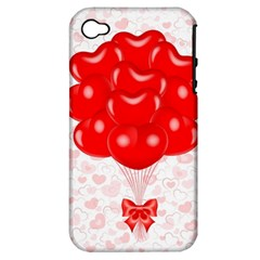 Abstract Background Balloon Apple iPhone 4/4S Hardshell Case (PC+Silicone)