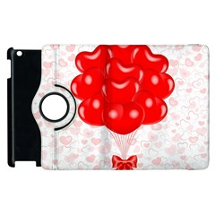 Abstract Background Balloon Apple iPad 2 Flip 360 Case