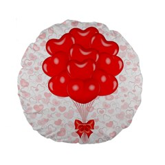 Abstract Background Balloon Standard 15  Premium Round Cushions