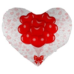 Abstract Background Balloon Large 19  Premium Heart Shape Cushions
