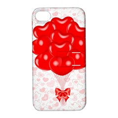 Abstract Background Balloon Apple iPhone 4/4S Hardshell Case with Stand
