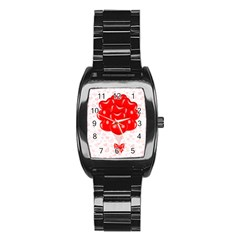 Abstract Background Balloon Stainless Steel Barrel Watch