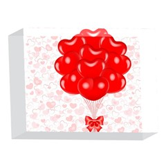 Abstract Background Balloon 5 x 7  Acrylic Photo Blocks