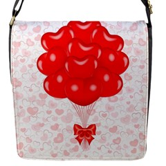 Abstract Background Balloon Flap Messenger Bag (S)