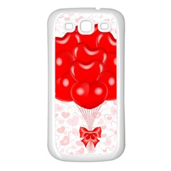 Abstract Background Balloon Samsung Galaxy S3 Back Case (White)
