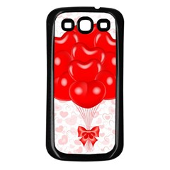 Abstract Background Balloon Samsung Galaxy S3 Back Case (Black)