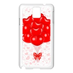 Abstract Background Balloon Samsung Galaxy Note 3 N9005 Case (White)