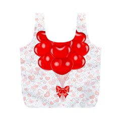 Abstract Background Balloon Full Print Recycle Bags (M)