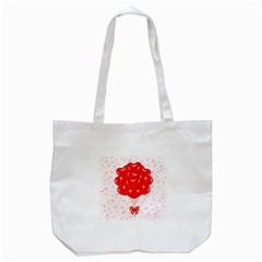Abstract Background Balloon Tote Bag (White)