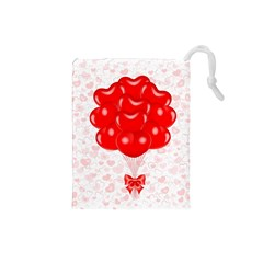 Abstract Background Balloon Drawstring Pouches (Small)