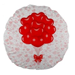 Abstract Background Balloon Large 18  Premium Flano Round Cushions