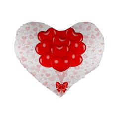 Abstract Background Balloon Standard 16  Premium Flano Heart Shape Cushions