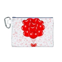 Abstract Background Balloon Canvas Cosmetic Bag (M)