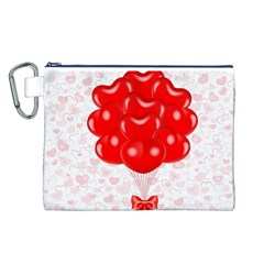 Abstract Background Balloon Canvas Cosmetic Bag (L)