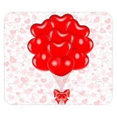 Abstract Background Balloon Double Sided Flano Blanket (Small)