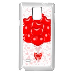 Abstract Background Balloon Samsung Galaxy Note 4 Case (White)