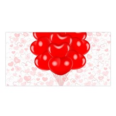 Abstract Background Balloon Satin Shawl