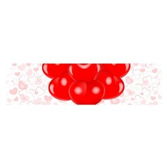 Abstract Background Balloon Satin Scarf (Oblong)