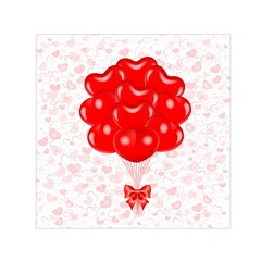 Abstract Background Balloon Small Satin Scarf (Square)