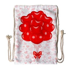 Abstract Background Balloon Drawstring Bag (Large)