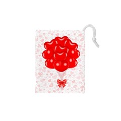 Abstract Background Balloon Drawstring Pouches (XS)
