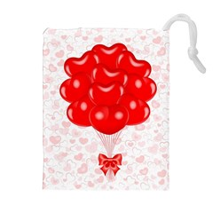 Abstract Background Balloon Drawstring Pouches (Extra Large)