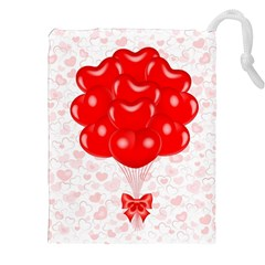Abstract Background Balloon Drawstring Pouches (XXL)