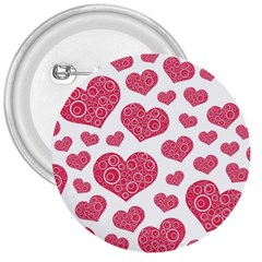 Heart Love Pink Back 3  Buttons