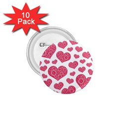 Heart Love Pink Back 1.75  Buttons (10 pack)
