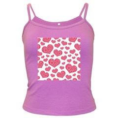 Heart Love Pink Back Dark Spaghetti Tank