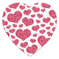 Heart Love Pink Back Jigsaw Puzzle (Heart)