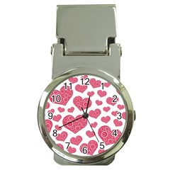 Heart Love Pink Back Money Clip Watches