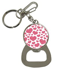 Heart Love Pink Back Button Necklaces