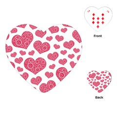 Heart Love Pink Back Playing Cards (Heart)