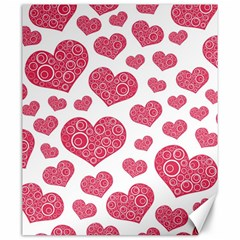 Heart Love Pink Back Canvas 20  x 24