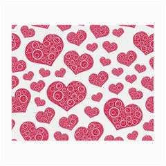 Heart Love Pink Back Small Glasses Cloth (2-Side)