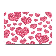 Heart Love Pink Back Plate Mats