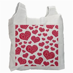 Heart Love Pink Back Recycle Bag (One Side)